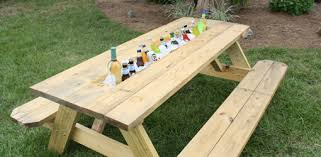 how to make a picnic table drink trough today u0027s homeowner