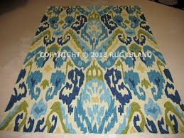 5x8 Outdoor Rug 5x8 5 6 X 8 Contemporary Abstract Indoor Outdoor Blue Green