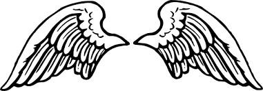 simple wing tattoos clipart library hanslodge cliparts