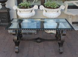 Vintage Glass Top Coffee Table Vintage Wrought Iron Coffee Table With New Glass Top