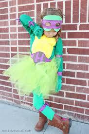 Turtle Halloween Costume Diy Sew Ninja Turtle Costume Girls Loves Glam
