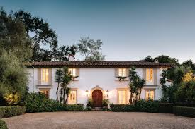 santa fe style homes spanish colonial style santa barbara architectural digest