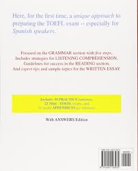 sample essays for toefl toefl prep for spanish speakers an advanced grammar course for toefl prep for spanish speakers an advanced grammar course for pre ibt itp pbt toefl and english teacher training greg britt 9781442123472