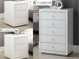 venetian mirrored compact 3 drawer chest venetian mirrored glass