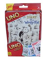 kid cards diary of a wimpy kid uno card tin toys