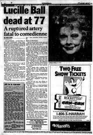 lucille ball beloved star of u0027i love lucy u0027 dies at 77 in 1989