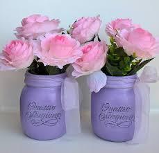 vasi decorativi coppia vasi decorativi vetro quattro stagioni lilla con fiori rosa