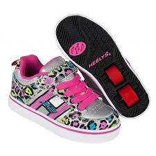 heelys light up shoes heelys x2 bolt light up silver multi cheetah heelys shoes