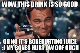 Ouch Meme - leonardo dicaprio s toast bone hurting juice know your meme