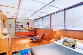 floating nightstand bedroom scandinavian with neutral color scheme