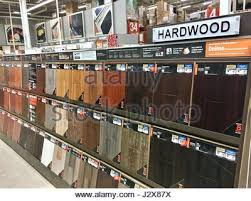 hardwood floor selection at the home depot stock photo royalty