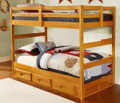 Discovery World Basic Bunk Bed  Twin Over Twin In Honey Pine - Pine bunk bed