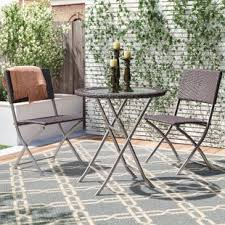 round glass top patio table glass top patio table wayfair