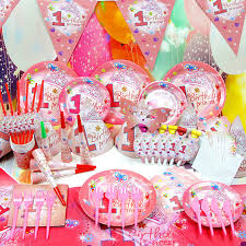 wholesale party supplies hello princess themes birthday party decorations set children