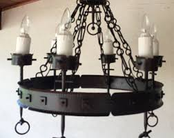 Vintage Wrought Iron Chandeliers Vintage Wrought Iron Chandelier Etsy