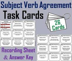 all worksheets subject verb and pronoun antecedent agreement