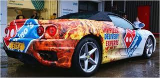 ferraris pizza my pizza delivery drivers car pic bodybuilding com forums