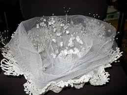 corbeille mariage corbeille de mariage crochet avec tulle et perles le plaisir du