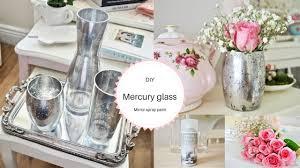Mercury Glass Vases Diy Mirror Spray Paint Diy Mercury Glass Effect Youtube
