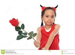 cute little devil in red costume stock images image 27405114