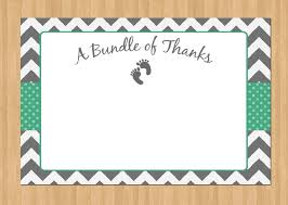 amazing free printable baby shower thank you cards 21 on baby