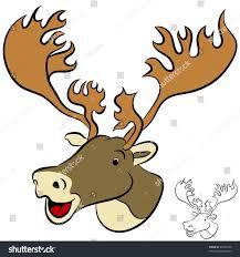 image cartoon caribou face stock illustration 92048186 shutterstock