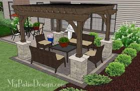 Simple Patio Design Simple And Affordable Brick Patio Design With Pergola 470 Sq Ft