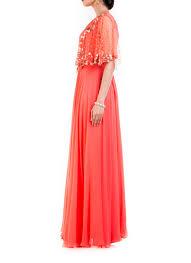 coloured dress anushree agarwal coloured dress with half cape shop