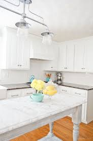 Painted Kitchen Cabinets White White Painted Kitchen Cabinets Reveal