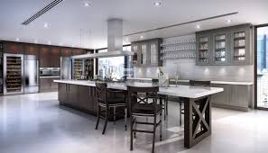 clive christian contemporary kitchen in walnut and grey photo
