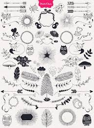 Beautiful Decoration Element A Huge Hand Drawn Designer U0027s Element Kit From Nature Includes