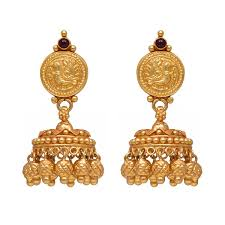 gold jhumka earrings design with price buy joyalukkas 22k yellow gold jhumki earrings online at low