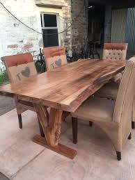 Natural Wood Dining Room Table by Dining Tables How To Make A Wood Slab Dining Table Live Edge