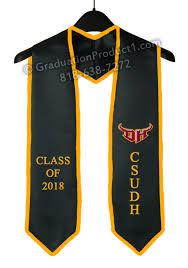 customized graduation stoles csudh graduation stole with trim as low as 10 99