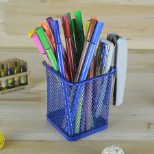 metal mesh pencil holder stationery organizer storage office desk