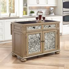 home styles visions silver u0026 gold champagne kitchen island with