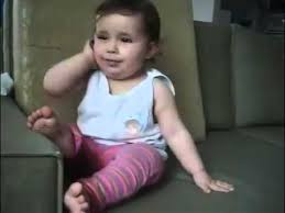 Baby On Phone Meme - baby talking funny in phone youtube
