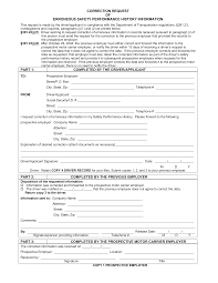 part 391 correction request of erroneous safety performance history information form png