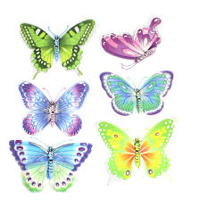 Large Butterfly Decorations bedroom cute removable 3d butterflies wall craft decorations for