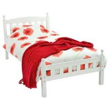 buy daisy sleigh single bed frame white at argos co uk your