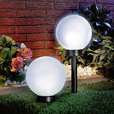 Bright Solar Landscape Lights 2pack 4led Bright Solar Globe Stake Light Set Sogrand Solar