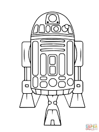 astromech droid r2 d2 coloring free printable coloring pages