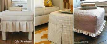 Custom Slipcovers By Shelley Ottoman Slipcover The Slipcover Maker