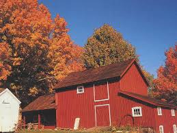 Wallpaper Barn Red Barn In Autumn Farms Wallpaper