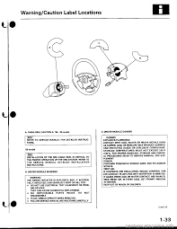 warning honda civic 1997 6 g workshop manual