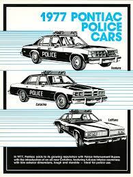 ad police 1977 pontiac lemans bonneville and ventura police car ad classic
