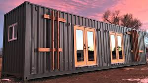 container house modern sleek gorgeous kitchen and bath tiny home