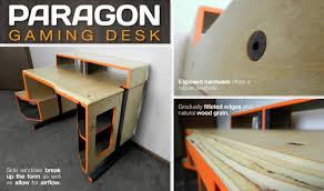 Gaming Desk Plans Outstanding Paragon Gaming Desk Ideas Best Inspiration Home