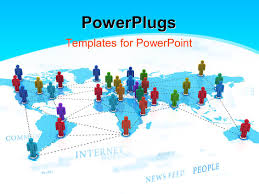 Powerpoint World Map by Powerpoint Template Depiction Of Global Networking With Colored