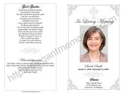 funeral programs exles memorial service program sle funeral programs exles for